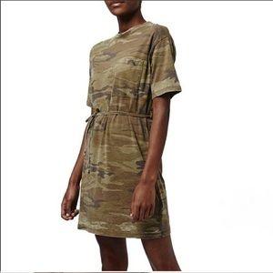 Topshop Camo T-Shirt Dress